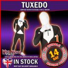 "MENS TUXEDO HIGH QUALITY MORPHSUIT FANCY DRESS COSTUME X LARGE 5' 9"" TO 6' 3"" HEIGHT"